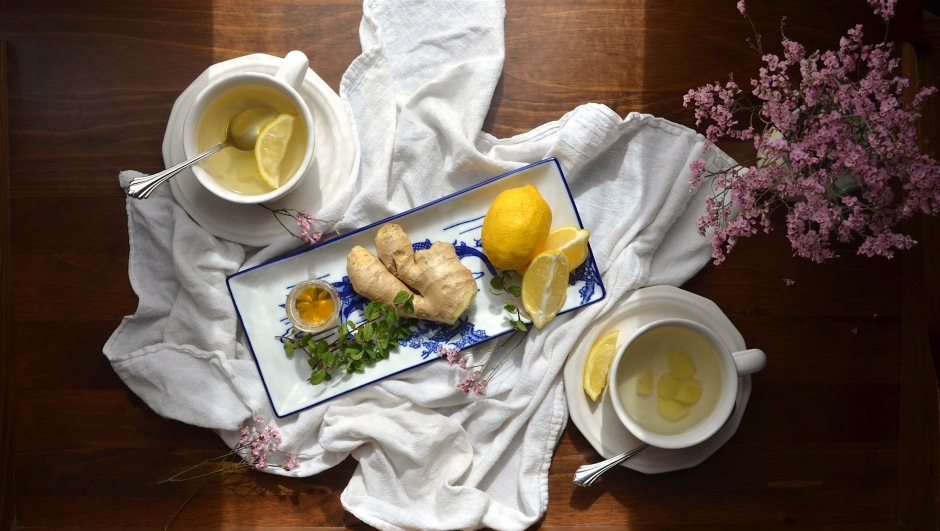Ginger tea and garlic soup recipe