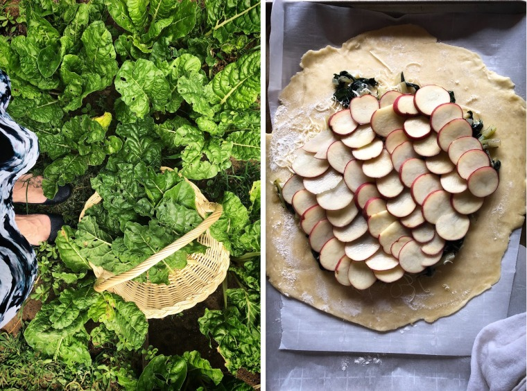 Swiss Chard and Potato Galette recipe
