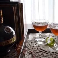 Chambord and Rose Martini