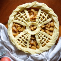 Windmill Lattice Apple Pie