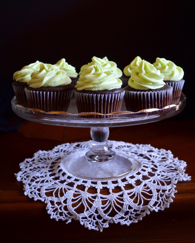 Mint and Chocolate Cupcakes