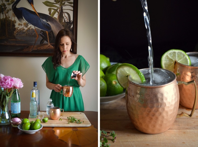 Rebecca Sherrow makes Moscow Mules
