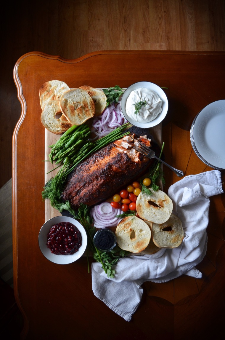 Cedar Plank Salmon Breakfast Board