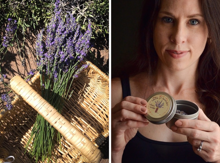 Rebecca Sherrow with lavender