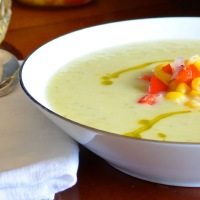 Zucchini Vichyssoise with Sweet Corn Relish