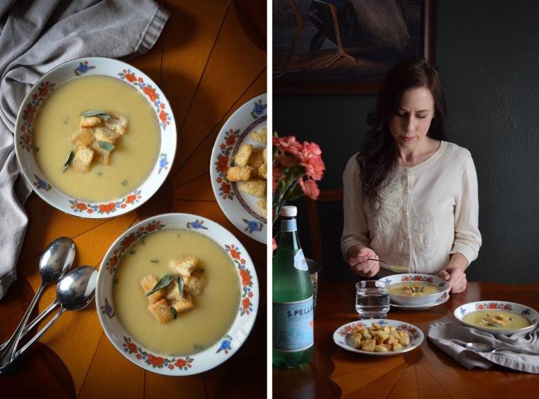 Rebecca's garlic soup