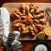 Cinnamon Orange Star Bread - A Christmas Tradition