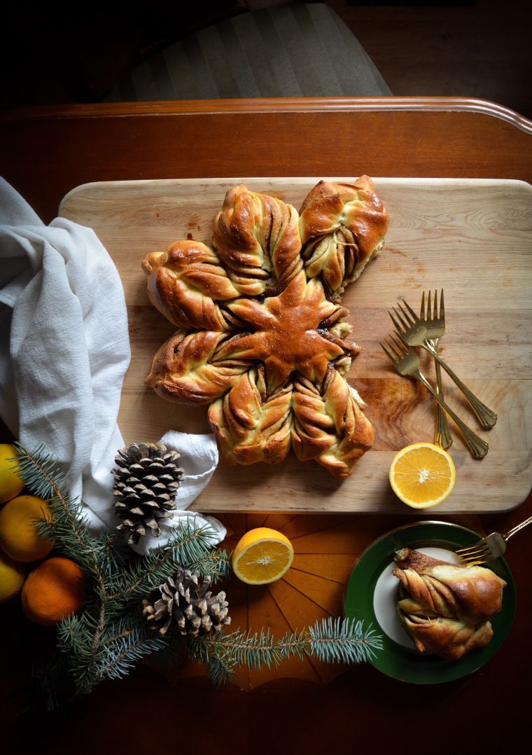 Pull apart Star Bread for Christmas