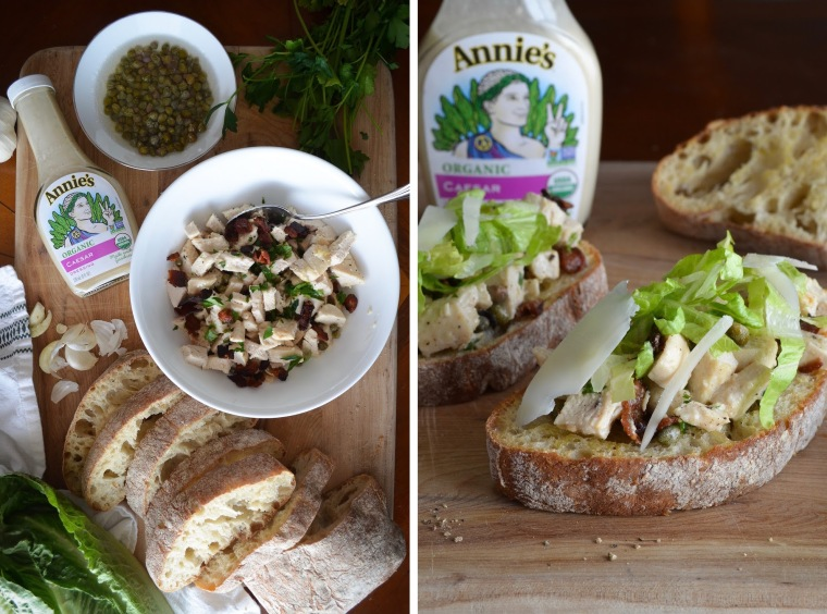 How to make chicken salad tartines