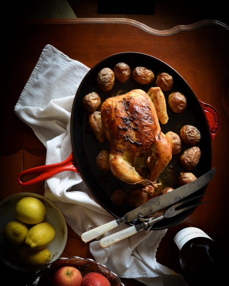 Recipe for Dijon Roasted Chicken