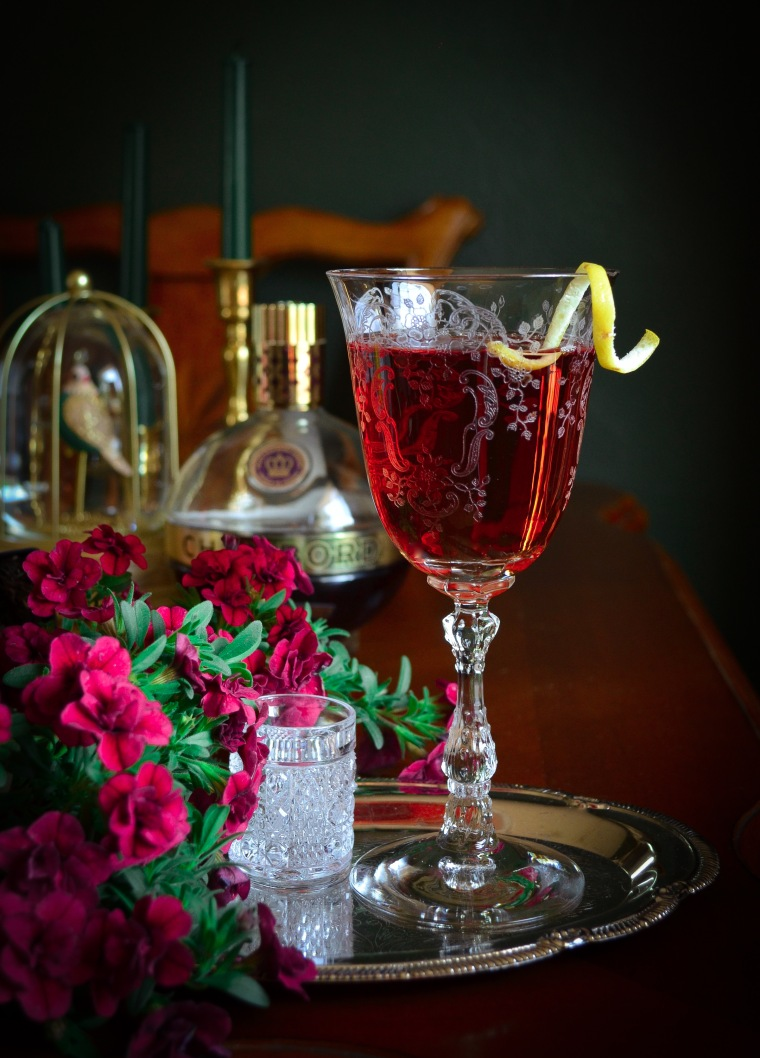 Chambord with Rosé wine cocktail