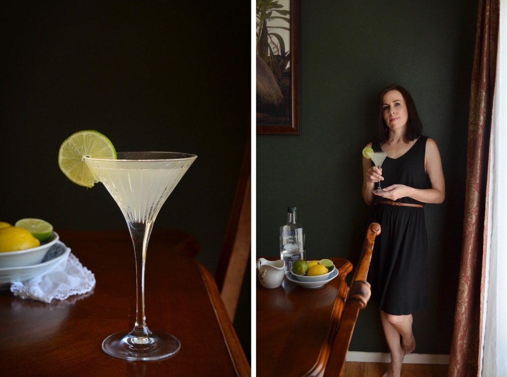 How to make a vodka gimlet with cucumber lime vodka | Rebecca Sherrow