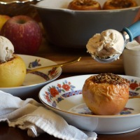 Calvados Baked Apples with Cinnamon Ice Cream