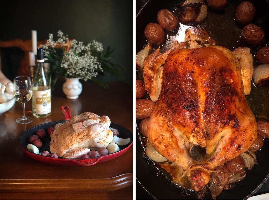Rotisserie style roasted chicken recipe