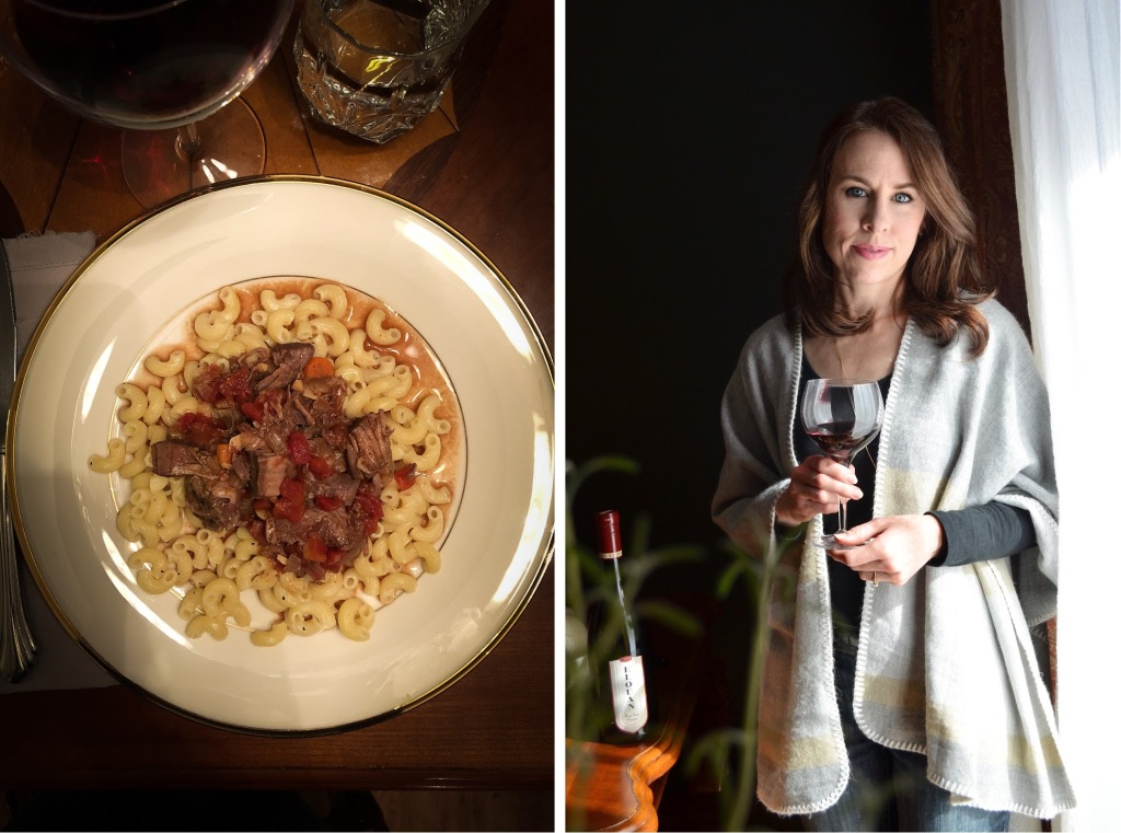 Elouan 2017 Pinot Noir review by Rebecca Sherrow and recipe for braised beef shanks
