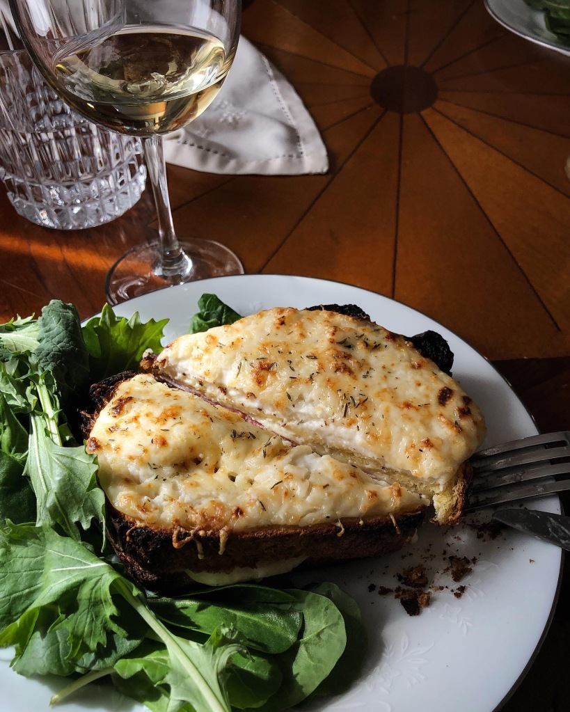 Recipe for French Croque-Monsieur sandwiches.