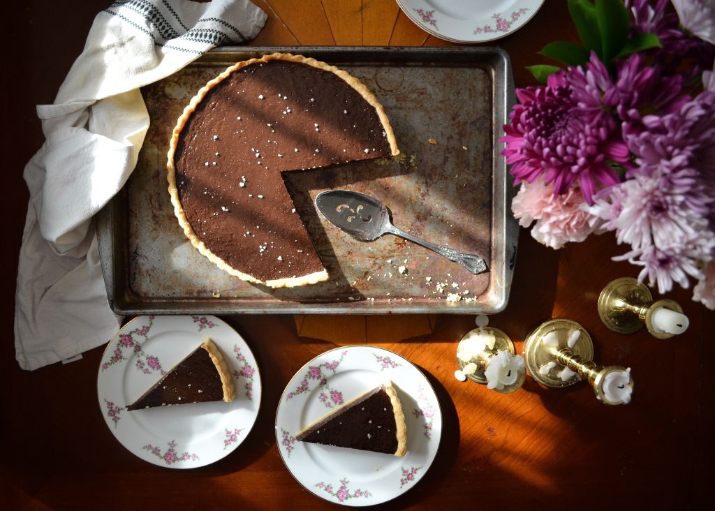 Recipe for a salted chocolate tart