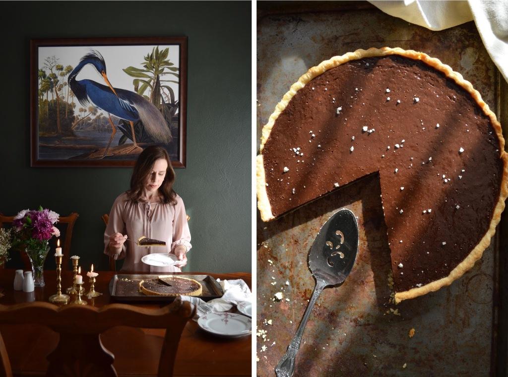 How to make a salted chocolate tart, recipe by Rebecca Sherrow