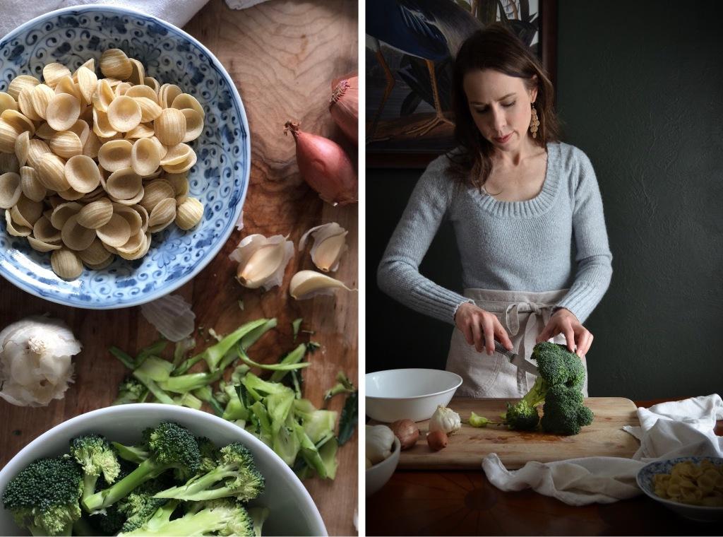 Orecchiette with Broccoli and bacon recipe by Rebecca Sherrow