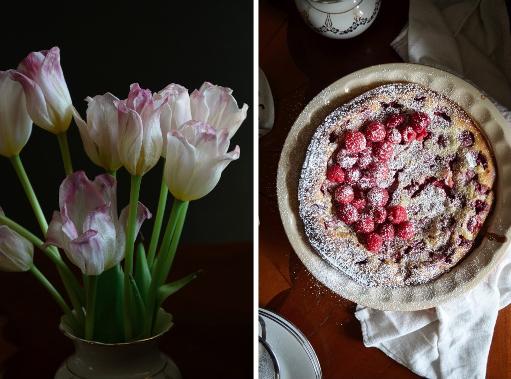 Recipe for French raspberry clafoutis